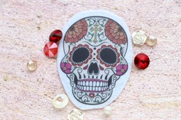 Шаблон Черепа-Rosa на фетре или батисте