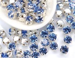 Шатоны 4 мм, Maxima Preciosa, Light Sapphire