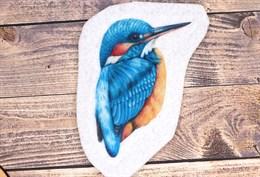 Шаблон Нефритового зимородка на фетре или батисте