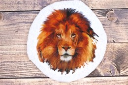 Шаблон Льва на фетре или батисте