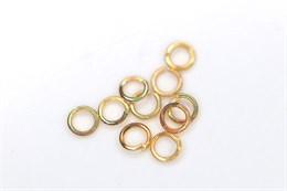 Соединительные колечки золото 18k (Корея), 3 мм