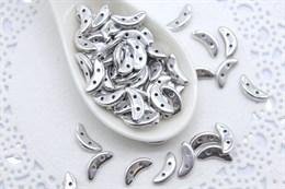 Crescent 3х10  mm - Silver (#S00030)