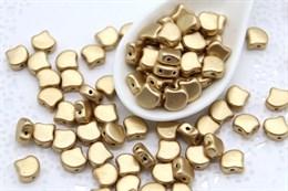 Ginkgo бусины 7,5х7,5мм-Matte Metallic Flax (K0171)