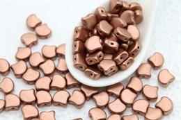 Ginkgo бусины 7,5х7,5мм-Matte Metallic Bronze Copper (K0178)