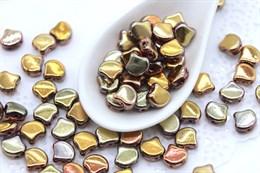Ginkgo бусины 7,5х7,5мм-Double Sided Apollo Gold (27103CR)