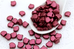 Ginkgo бусины 7,5х7,5мм- Chatoyant Red (29717AL)
