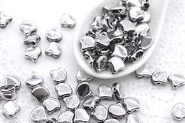 Ginkgo бусины 7,5х7,5мм - Silver (27000CR)