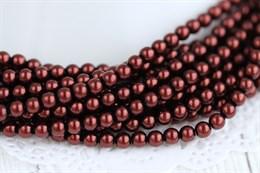 Жемчуг Preciosa Maxima 4 мм, Dark Copper 20 шт