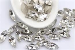 Preciosa Navette Maxima 10*5 мм - Crystal