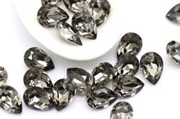 Preciosa Baroque Pear Maxima 10*7 мм - Black Diamond