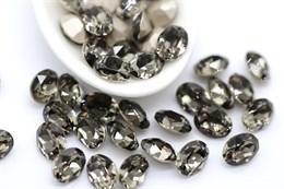 Preciosa Oval Maxima 8*6 мм - Black Diamond