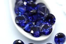 Фианит 10 мм, Королевский синий