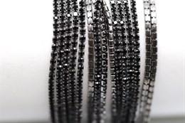 Стразовая цепочка 1,4 мм, 17C