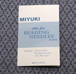 Иглы для бисероплетения MIYUKI с нитевдевателем