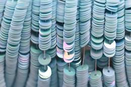 Пайетки радужный фарфор 5040, 4 мм