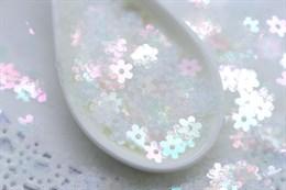 Итальянские пайетки 5 мм цветок №101
