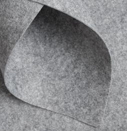 Корейский жесткий фетр 1,2 мм, Серый меланж