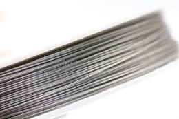 Ювелирный тросик d= 0,45 мм (Серебро) 50 метров