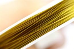 Ювелирный тросик d= 0,45 мм (Золото) 50 метров