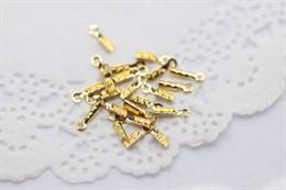 Зажим для шнуров и ювелирного тросика, золото 18к
