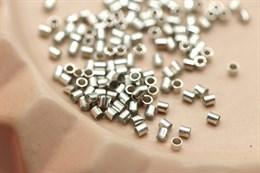 Кримпы 2х2 мм, платина, 1 грамм