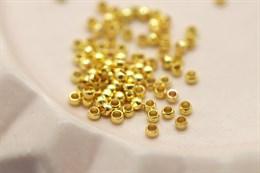 Кримпы 1,5х2 мм, золото, 1 грамм