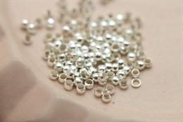 Кримпы 1,5х2 мм, серебро, 1 грамм