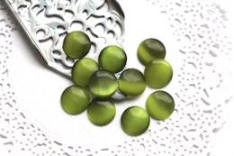 Шелковый кристалл 12 мм, Зеленый Луг