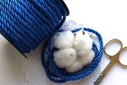 Витой шнур 5 мм, Королевский синий