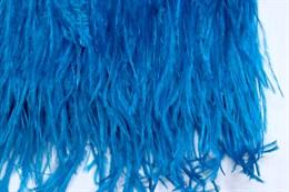 Перо страуса на ленте,  Blue Zircon