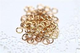 Соединительные колечки золото 18k , 5 мм
