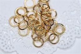 Соединительные колечки золото 18k , 10 мм