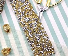 Кристальная лента Light Gold, 50*30 мм