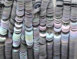 Пайетки радужный фарфор 5071, 4 мм