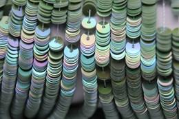 Пайетки радужный фарфор 5143, 4 мм