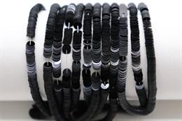 Пайетки фарфоровые Noir, 4 мм