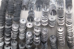 Пайетки рифленые Solul Argent, 4 мм