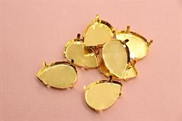Оправа/Цапы для кристаллов 25*18 мм Gold