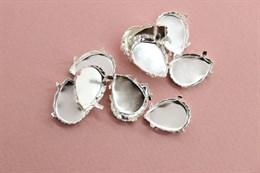 Оправа/Цапы для кристаллов 18*13 мм Silver