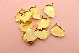 Оправа/Цапы для кристаллов 18*13 мм Gold
