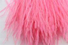 Перо страуса на ленте, Neon Pink