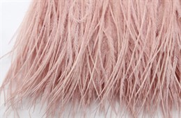 Перо страуса на ленте, Leather Pink