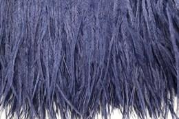 Перо страуса на ленте, Navy Blue