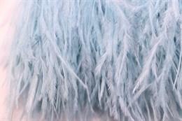 Перо страуса на ленте, Opal Blue