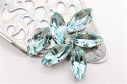 #4200 Navette 15*7 мм Light Aquamarine