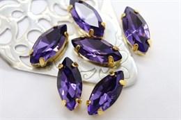 #4200 Navette 15*7 мм Purple Violet
