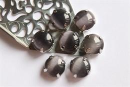 Шелковый кристалл 12 мм, Графитно-Черный
