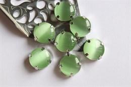 Шелковый кристалл 12 мм, Зеленый Чай