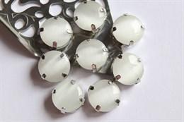 Шелковый кристалл 12 мм, Холодное Молоко