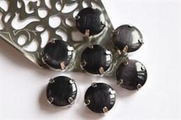 Шелковый кристалл 12 мм, Черный Янтарь